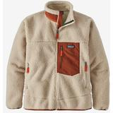 Patagonia Classic Retro X Fleece Jacket - Natural w/Barn Red
