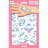 Klistermärken Djeco Tattoos Unicorns