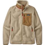 Damkläder Patagonia Women's Classic Retro-X Fleece Jacket - Natural w/Nest Brown