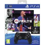Sony playstation dualshock 4 controller black Spelkontroller Sony DualShock 4 Wireless Controller - Black and FIFA 21 Bundle (PlayStation 4)