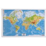 Skrivbordsunderlägg Skrivunderlägg Världskarta 59x39cm