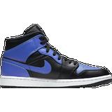 Skor Herr Nike Air Jordan 1 Mid - Black/White/Hyper Royal