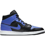 Skor Dam Nike Air Jordan 1 Mid - Black/White/Hyper Royal