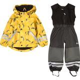 Lindberg Nordskog Fleece Rain Set - Yellow