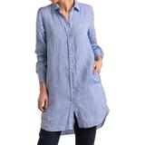 Boomerang Bea Linen Dress - Cloud Blue