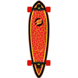 "Kompletta skateboards Santa Cruz Flame Dot Pintail 33"""