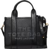 Skinn Toteväskor Marc Jacobs The Leather Mini Tote Bag - Black