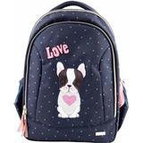 Väskor Top Model Love Dog Motif With Sequins School Bag - Blue