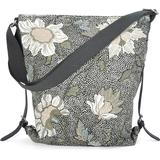Väskor Ceannis Flower Linen Shoulder Bag - Black