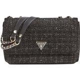 Svarta Väskor Guess Cessily Tweed Crossbody - Black