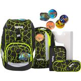 Väskor Ergobag School Backpack Set - Dragon RideBear Lava Yellow