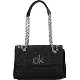 Handväskor Calvin Klein Quilted Convertible Crossbody Bag - Black