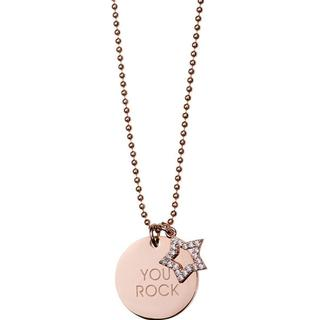Rock by Sweden You Rock Stainless Steel Necklace w. Swarovski Crystal (S110200)