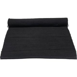 Rug Solid Cotton (140x200cm) Svart