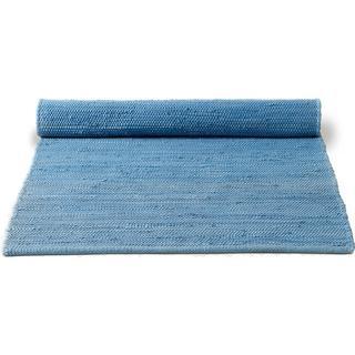 Rug Solid Cotton (75x300cm) Blå