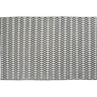 Linie Design Elliot (200x300cm) Svart, Vit
