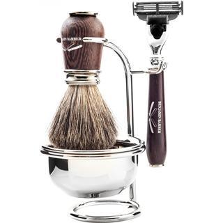 Benjamin Barber Nobel 4-part Shaving Set Wengé Gillette Fusion