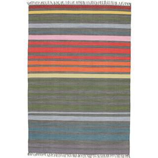 RugVista CVD5952 Rainbow Stripe (140x200cm) Grå