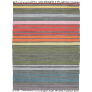 RugVista CVD5804 Rainbow Stripe (200x250cm) Grå