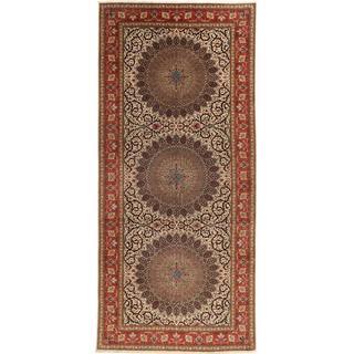 CarpetVista TTB42 Tabriz 60 Raj Silkesvarp Persisk (200x450cm)