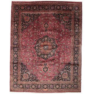 CarpetVista VEXB4 Mashad Signerad: Akhondzadeh (386x487cm) Flerfärgad