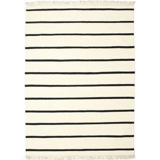 RugVista Dorri Stripe (160x230cm) Svart, Vit