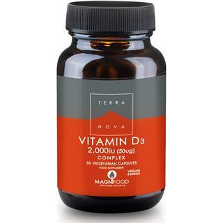 Terra Nova Vitamin D3 Complex 50ug, 50 st