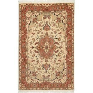 CarpetVista TTF76 Tabriz 50 Raj Med Silke Persisk (100x159cm)