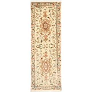 CarpetVista TTF102 Tabriz 50 Raj Med Silke Persisk (85x255cm)