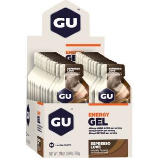 Gu Energy Gels with Caffeine Espresso Love 32g x 24 24 st