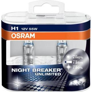 Osram H1 Night Breaker Unlimited Halogen Lamps 55W 2-pack