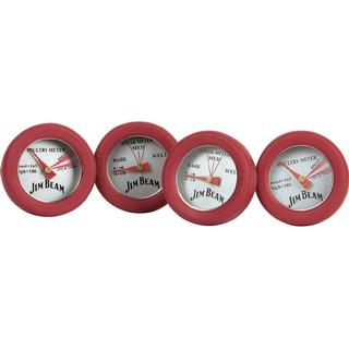 Jim Beam BBQ Thermometer Set Of 4 Pieces
