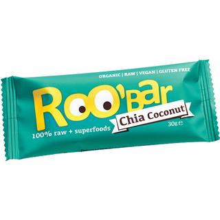 Roo-Bar Raw Energy Bar Chia & Coconut 30g 1 st