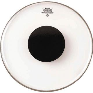 """Remo Controlled Sound Clear Top Black Dot 12"""""""