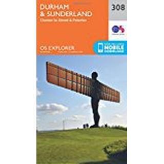 OS Explorer Map (308) Durham and Sunderland (OS Explorer Paper Map) (OS Explorer Active Map)