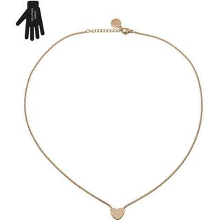 Edblad Together Stainless Steel Rose Gold Plated Necklace w. Cubic Zirconium - 43cm (11730068)