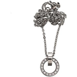Edblad Eternity Orbit Short Stainles Steel Necklace w. Transparent Cubic Zirconium - 40cm (79109)