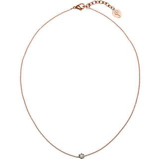 Edblad Crown Stainless Steel Rose Gold Plated Necklace w. Transparent Cubic Zirconium - 45cm (41630099)