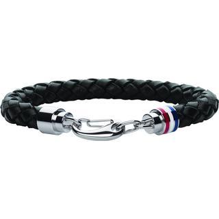 Tommy Hilfiger Mens Casual Bracelet - Black/Silver