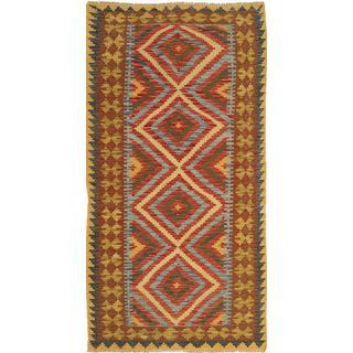 CarpetVista AXVQ273 Kelim Afghan Old Style (98x194cm) Beige