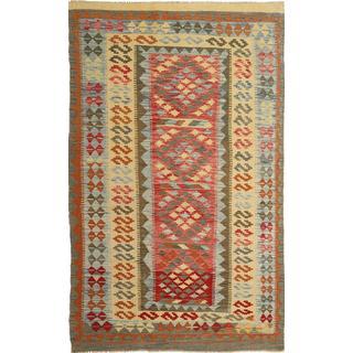 CarpetVista AXVQ589 Kelim Afghan Old Style (144x240cm) Beige
