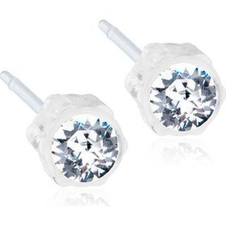 Blomdahl Skin Friendly Medical Plastic Earrings w. Swarovski Crystals - 0.4cm (15‑0103‑01)