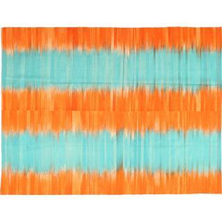 CarpetVista ABCS1504 Kelim Moderna (216x286cm) Blå, Orange
