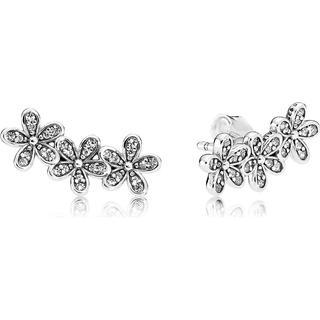 Pandora Dazzling Daisy Clusters Silver Earrings w. Cubic Zirconia (290744CZ)