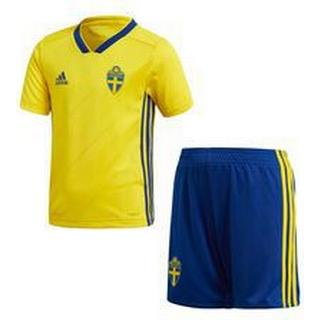 Adidas Sweden World Cup Home Jersey Mini Kit 18/19 Youth