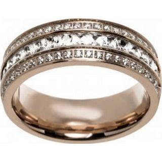 Edblad Ebba Stainless Steel Rose Gold Plated Ring w. Cubic Zirconia (101922)