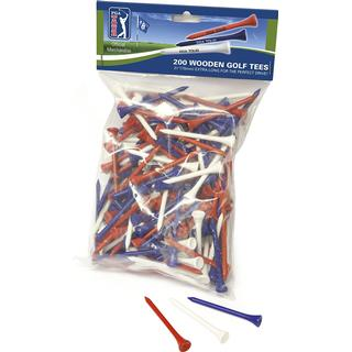 PGA tour Wooden Tees 70mm 200-pack