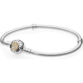 Pandora Moments Silver/Gold Bracelet w. Cubic Zirkonia (590741CZ)