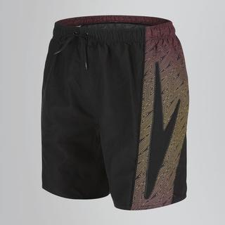 "Speedo Sports Print Splice 16"" Shorts - Black/Red"