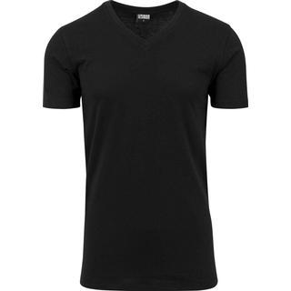 Urban Classics Basic V-Neck T-shirt - Black